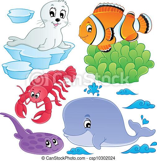 ryby, 5, zwierzęta, morze, zbiór - csp10302024