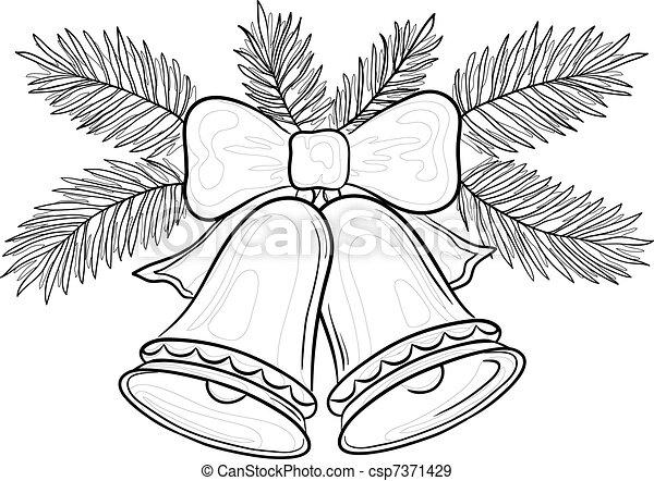 Ryczy Boże Narodzenie Kontury Jodła Gałęzie łuk Wektor