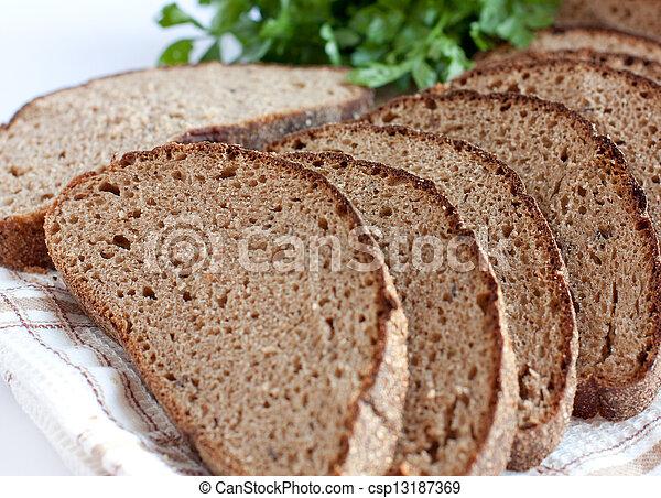 Rye bread, cut into chunks - csp13187369