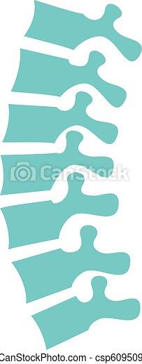 rygg, vektor, mänsklig, illustration - csp60950966