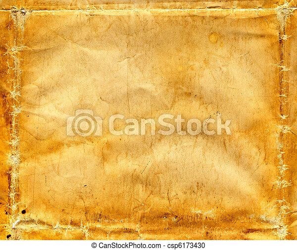 rynkig, papper, gammal - csp6173430