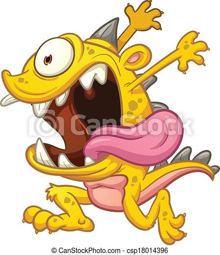 rysunek, pomylony, potwór - csp18014396