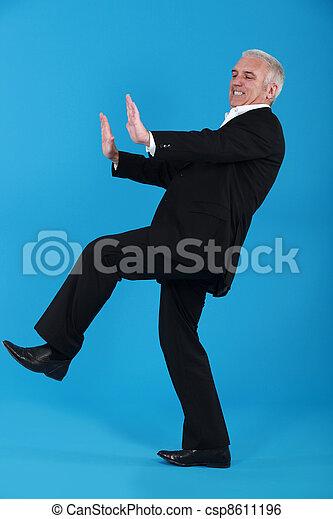 rzutki, wiek średni, garnitur, niewidzialny, człowiek, meble - csp8611196