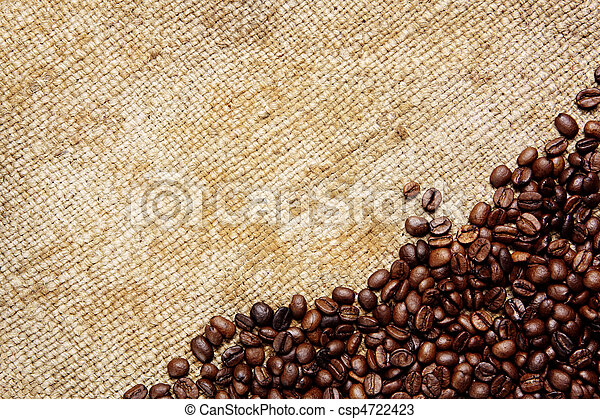 säck, traditionell, bönor, vävnad, kaffe - csp4722423