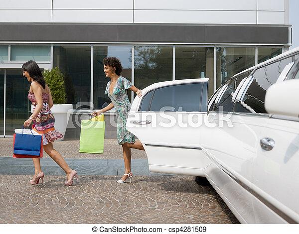 säcke, shoppen, touristen - csp4281509