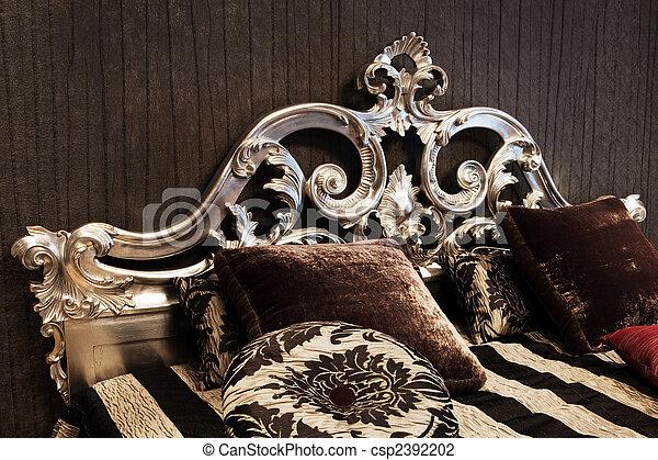 säng, fashionabel - csp2392202