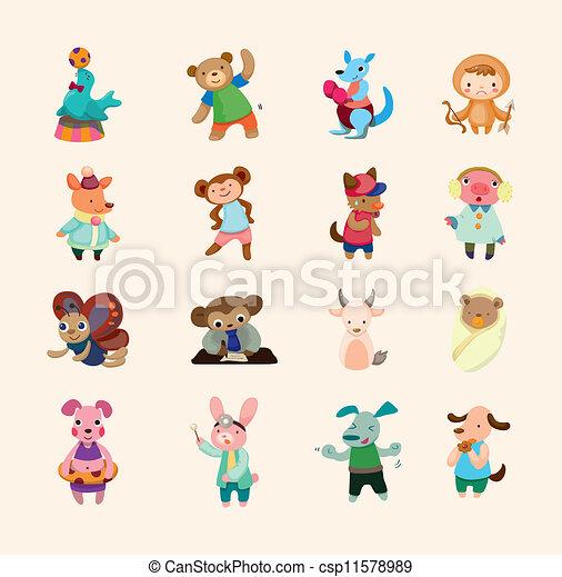 sätta, animal ikon - csp11578989
