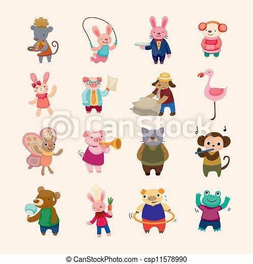 sätta, animal ikon - csp11578990