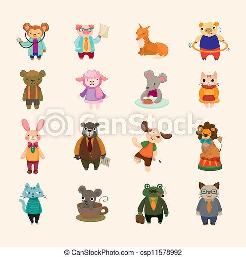 sätta, animal ikon - csp11578992