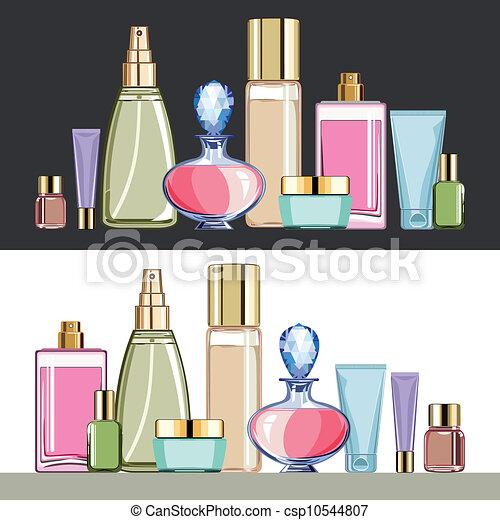 sätta, kosmetika, skönhet bry - csp10544807