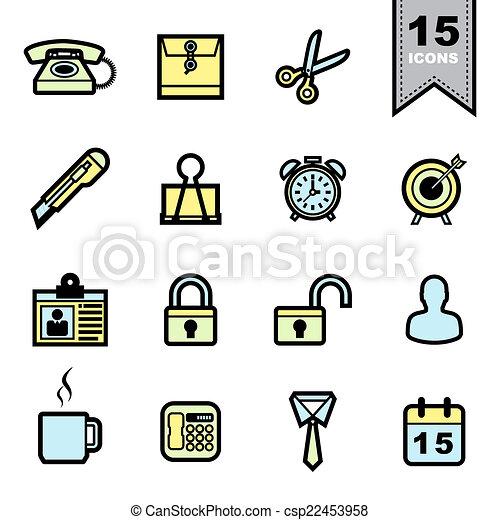 sätta, redskapen, ämbete ikon - csp22453958