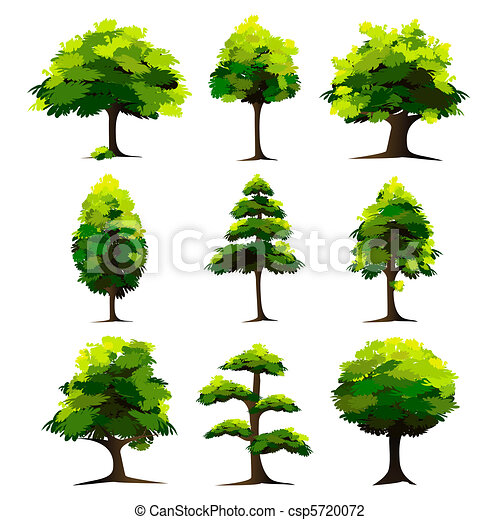sätta, träd - csp5720072