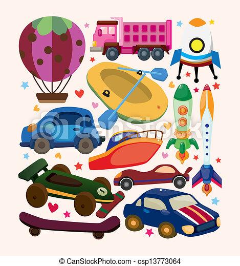 sätta, transport, ikonen - csp13773064