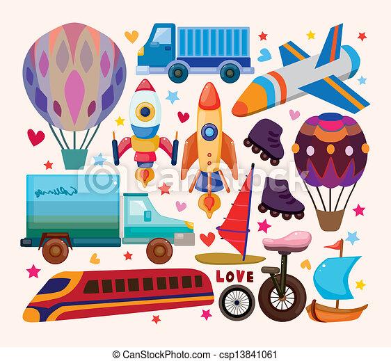 sätta, transport, ikonen - csp13841061