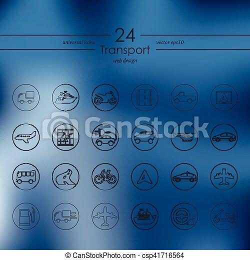 sätta, transport, ikonen - csp41716564