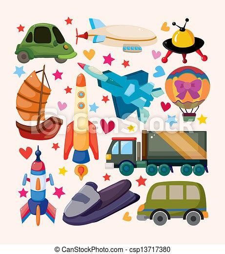 sätta, transport, ikonen - csp13717380