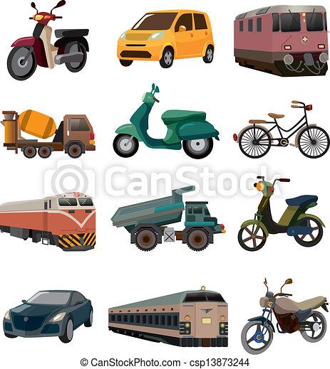 sätta, transport, ikonen - csp13873244