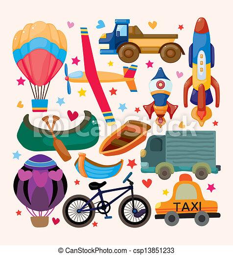 sätta, transport, ikonen - csp13851233