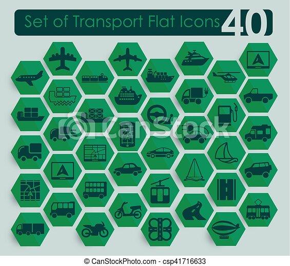 sätta, transport, ikonen - csp41716633