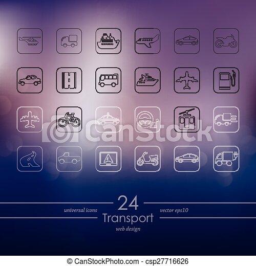 sätta, transport, ikonen - csp27716626