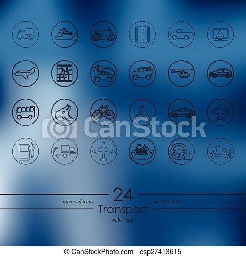 sätta, transport, ikonen - csp27413615