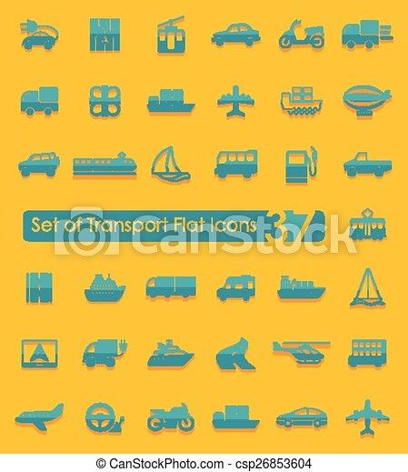 sätta, transport, ikonen - csp26853604