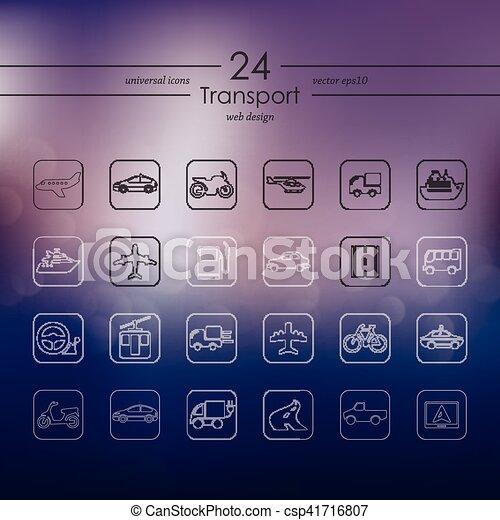 sätta, transport, ikonen - csp41716807
