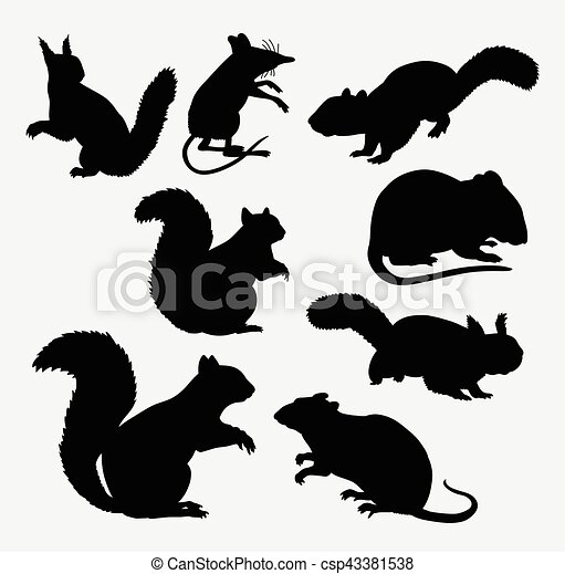 S ugetier maus silhouette eichh rnchen use aufkleber for Meine wohnung click design download