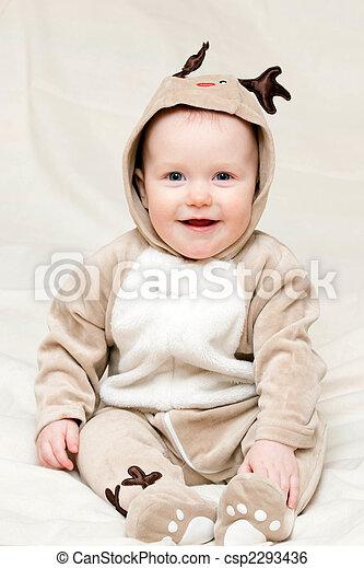 säugling, hirsch, kostüm - csp2293436