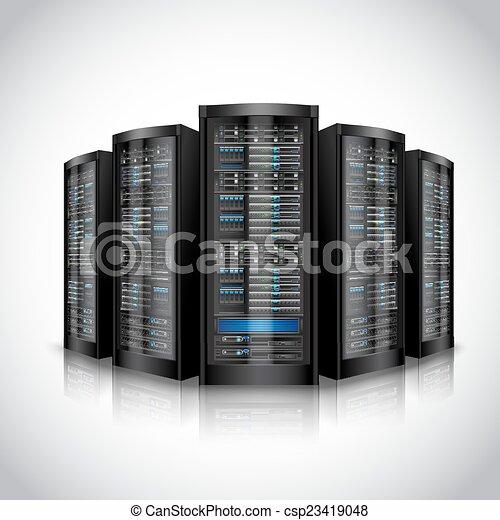 sæt, netværk, servers - csp23419048