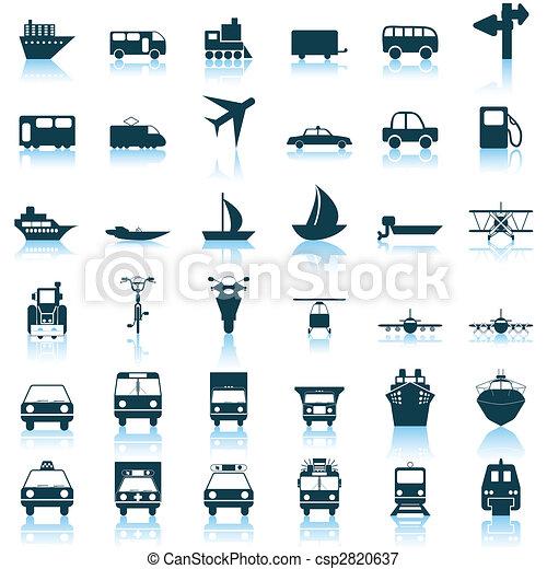 sæt, transport, iconerne - csp2820637