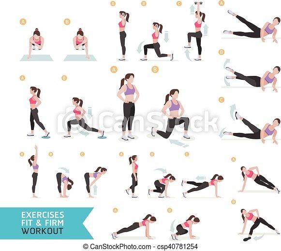 Séance entraînement aérobie, femme, fitness. Femme ...