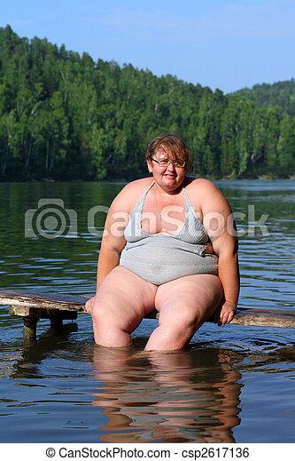séance, femme, excès poids, étape - csp2617136