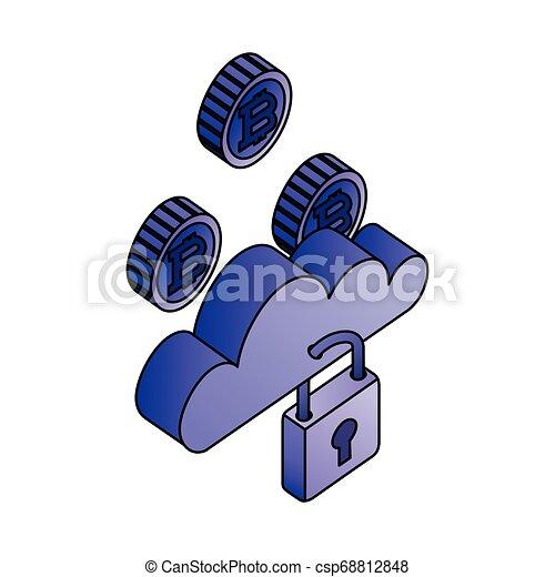 sécurité, calculer, réseau, nuage, bitcoin - csp68812848