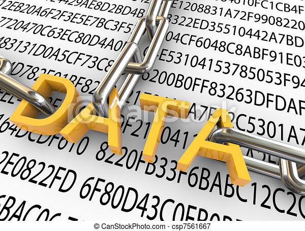 sécurité, concept, données, 3d - csp7561667