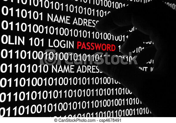 sécurité, concept, informatique - csp4678491