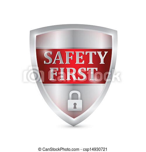 sécurité, conception, bouclier, illustration, premier - csp14930721