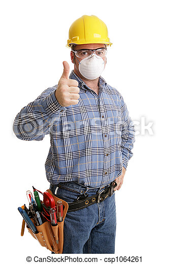 sécurité, construction, thumbsup - csp1064261