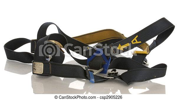 sécurité, fond, équipement industriel, reflet, harnais, blanc - csp2905226