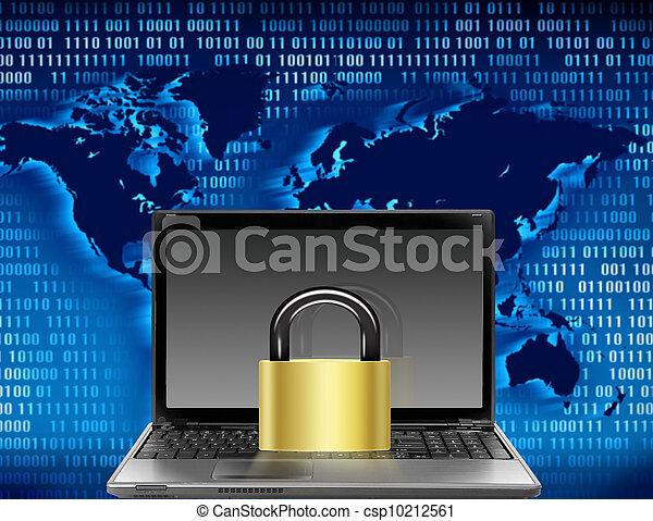 sécurité, informatique - csp10212561