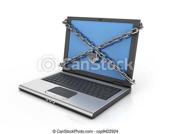 sécurité, informatique, /, internet - csp9422924