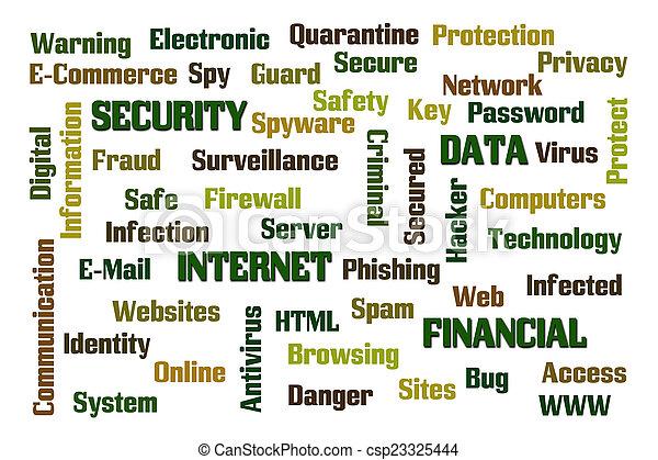 sécurité, internet - csp23325444