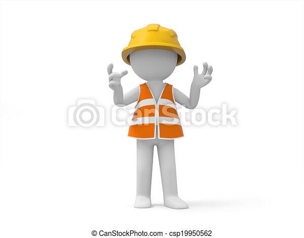 sécurité, ouvrier - csp19950562