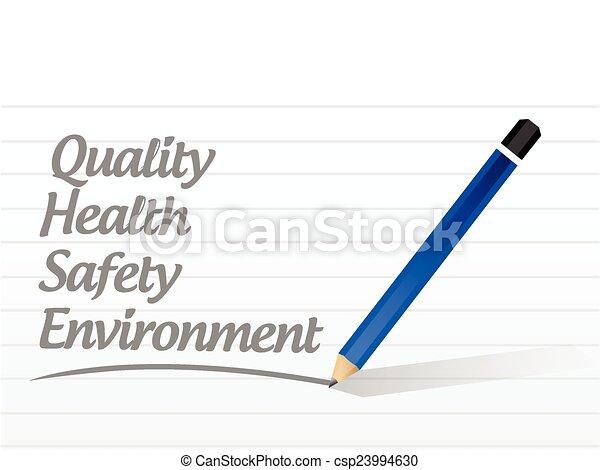 sécurité, qualité, santé - csp23994630