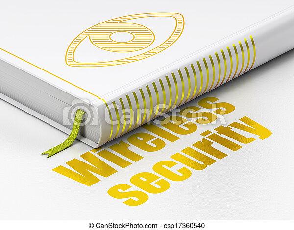 Securite Sans Fil Livre Protection Fond Blanc Oeil Concept