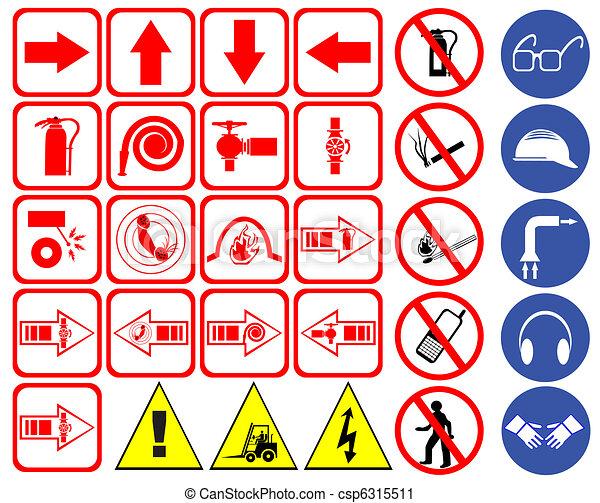 sécurité, signes - csp6315511