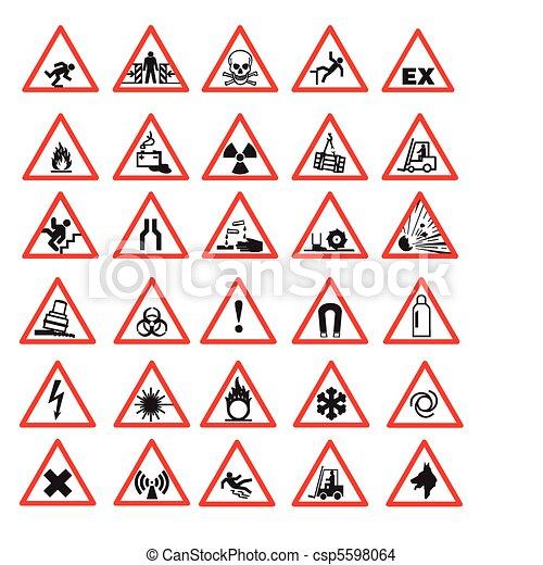 sécurité, signes - csp5598064