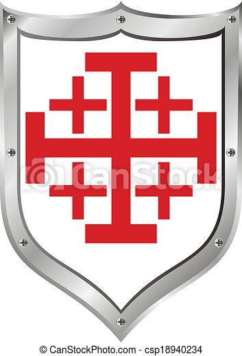 Sépulcre Jérusalem Bouclier Saint Ordre Bouclier Saint