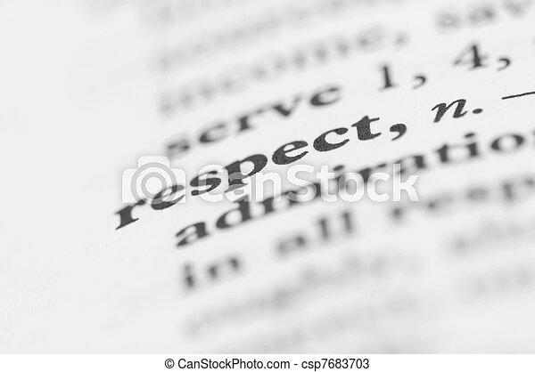 série, -, dictionnaire, respect - csp7683703