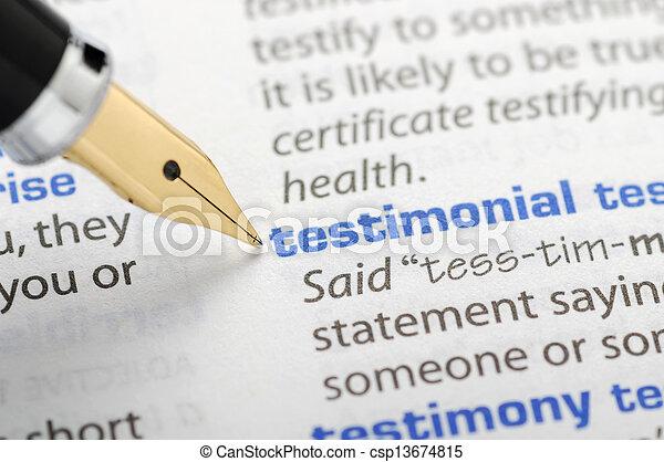 série, -, testimonial, dictionnaire - csp13674815